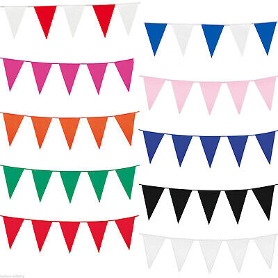 10m 20 Flags Bunting Blue Rose Gold Silver White Red Pink Purple Green 32 Feet 8