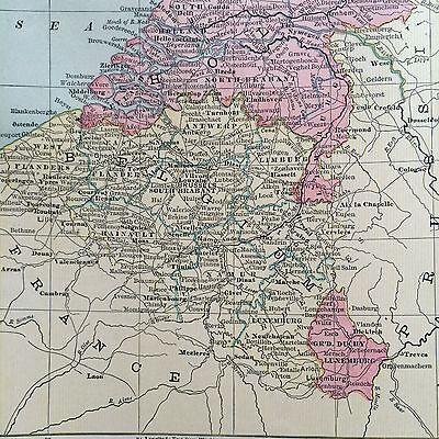Spain portugal denmark belgium rare original 1885 antique crams 3 of 10 spain portugal denmark belgium rare original 1885 antique crams world atlas maps gumiabroncs Images