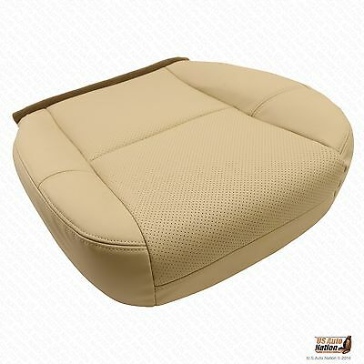 2004 Cadillac Escalade 2nd Row Driver Bottom Perforated Leather Seat Cover Tan