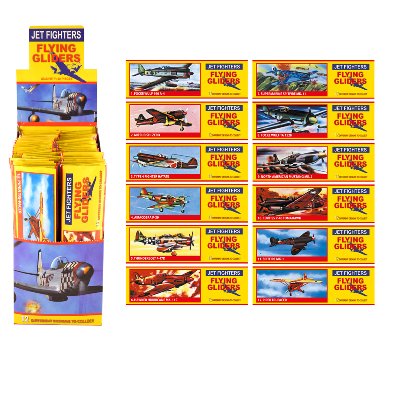 Bulk Job Lot Wholesale 48 Boys Gliders Xmas Fair PTA Kids Party Bag Filler Toy