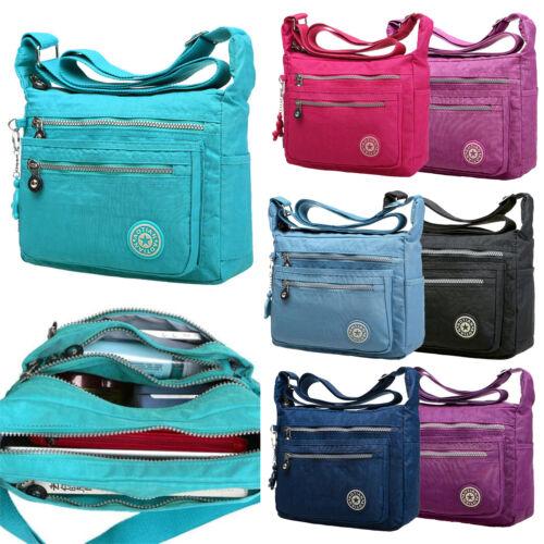 W' Women Canvas Handbag Pocket Shoulder Bag Travel Messenger Crossbody Satchel 3