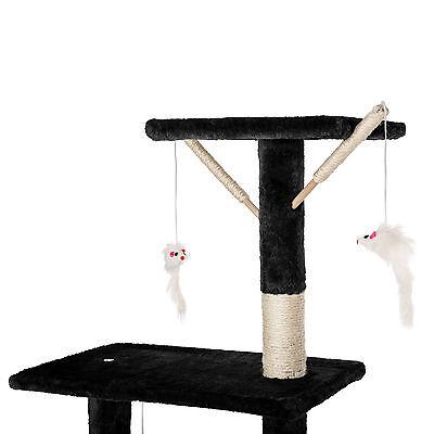 Arbre à chat griffoir grattoir jouet animaux douillet et peluché noir 8