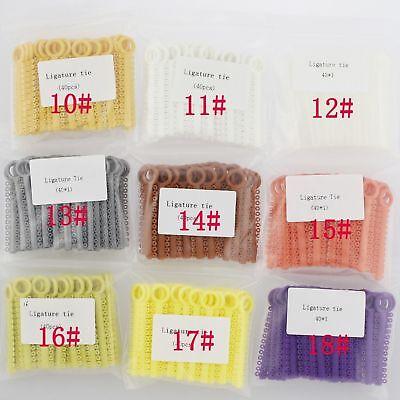 1 Pack 1040 Pcs Dental Orthodontic Elastic Braces Rubber Ligature Ties 37 Colors 3