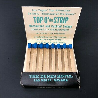 Vintage Matchbook The Dunes Hotel & Country Club Las Vegas Nevada Advertising 2