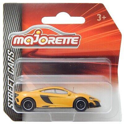 MAJORETTE 212053051 McLaren 675lt Jaune-Street cars échelle 1:64//3 pouces Neuf °