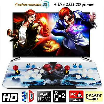 Pandora's Box 3D Plus 2400 in 1 Video Games Retro Arcade Console HD Support TV 3