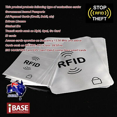 RFID Blocking Sleeve Secure Credit Card ID Protector Anti Scan Safet 2xL + 5xS 2