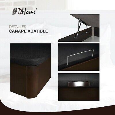 Canape Abatible Tapizado 3D Blanco ESQUINAS MACIZAS HAYA 29cm cap. canapé madera 3