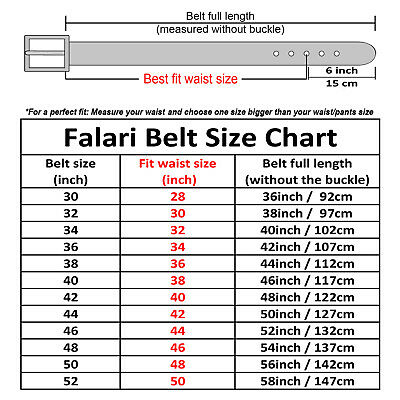 Falari Men Genuine Leather Golf Dress Belts Casual Belts Multiple Colors 9028 2