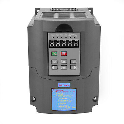 1.5KW 2HP Single To 3 Phase Variable Frequency Drive Inverter CNC VFD VSD 220V 3