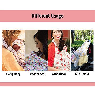 100% Breathable Cotton 3 in 1 Baby Breastfeeding Nursing Cover Generous Blanket 8