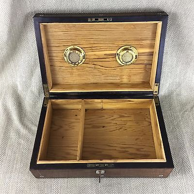 Antique cigar Humidor Victorian Rosewood Box Inlaid Mother Of Pearl 7