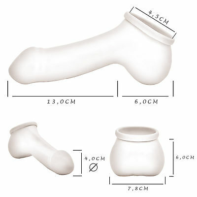 Toylie Latex Penishülle Adam Schaft:13cm Loch-Ø: 4,5cm Penis Hülle Latexkleidung 2