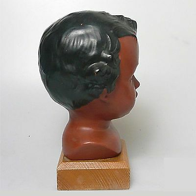 Alte Jungmädchen Büste 1960 gemarkt Terracotta ca.18 x 10 cm 3