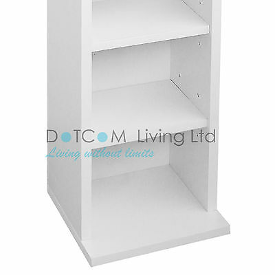 1 Of 9 Black White DVD Storage Tower Rack Up To102CD Unit Shelf Organiser  Archieve Wood