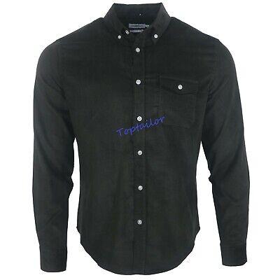 Men's Corduroy Ex Chainstore Men's Long Sleeves Cotton Winter Casual Shirt Top 2