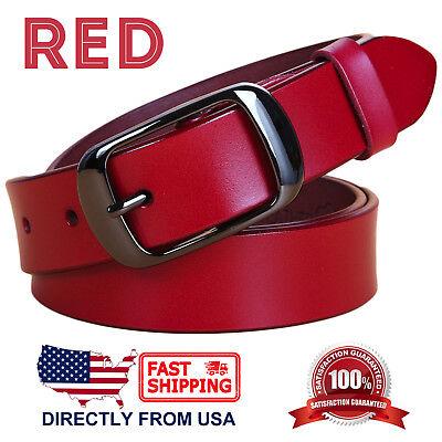 Women's Jean Belt, Classic Buckle Handcrafted Genuine Leather Belt 10
