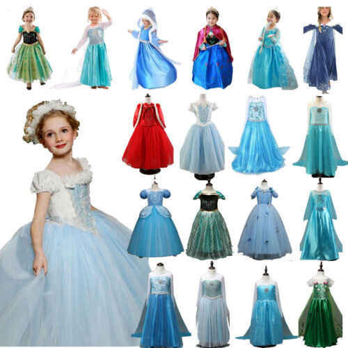 Girl Kid Fancy Dress Up Frozen SNOW WHITE Rapunzel Cinderella Costume  Outfit Lot 2 2 Of 12 ...