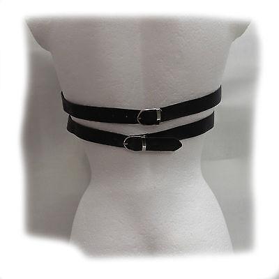 Leather Bikini Suit with Chains   S-L   - Das erotische Etwas - Schwarz (407) 6