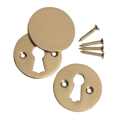 Keyhole Escutcheon Key Cover Plate Set /& Fixings for Door Lock