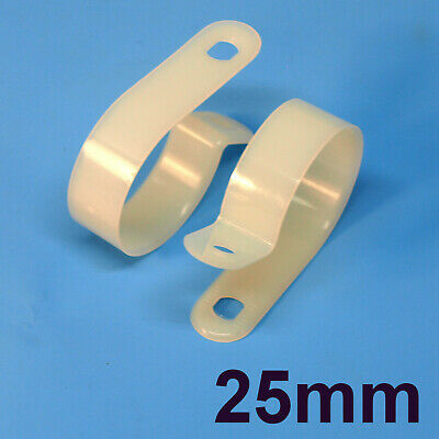 High Quality Assorted Box of White Natural Nylon Plastic P Clips - 200 Pieces 7