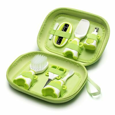 The Neat Nursery Co. Baby Hair Brush/Nail Clippers/Toothbrush Grooming Kit Green 2