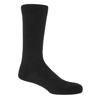 New 6 Pairs Mens Black Classic Dress Socks Cotton Casual Fashion Crew Solid Sox 2