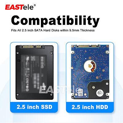 "USB 3.0 Transparent 2.5"" SATA 3.0 5Gbps SSD HDD Hard Disk Drive Enclosure Case 3"