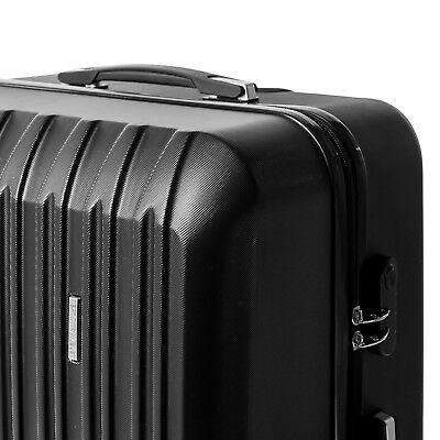 """4 Piece ABS Luggage Set Light Travel Case Hardshell Suitcase 16""""20""""24""""28"""" 12"""
