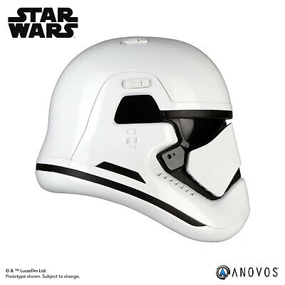ANOVOS STAR WARS LAST JEDI First Order Stormtrooper Helmet Movie Replica In Hand 3