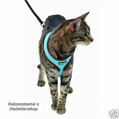 Katzengeschirr mit Leine Katzengarnitur hoher Tragekomfort Softgeschirr 2 • EUR 14,99
