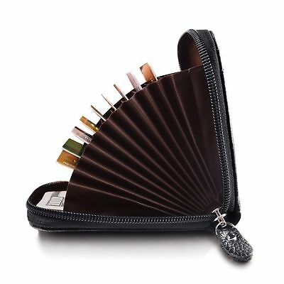 Mini Men Wallet Genuine Leather Credit Card Holder RFID Blocking Zipper Thin  AU 2