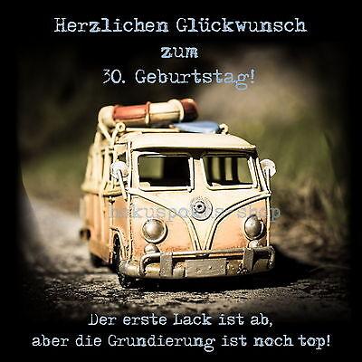 Flaschenetikett Oldtimer Vw Bus Geburtstag Sekt Wein Aufkleber