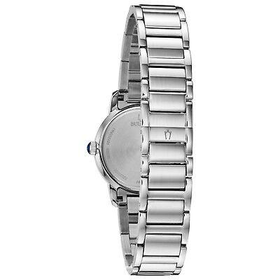 Bulova Women's Diamond Accents Quartz Blue Dial Bracelet 30mm Watch 96P195 3