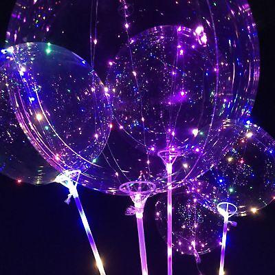 LED Light  Transparent Balloon Wedding Birthday Xmas Party Lights Decoration 7