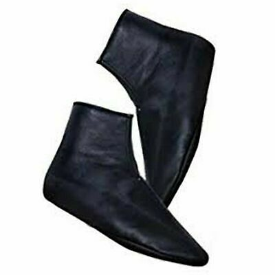 Premium Leather Socks Khuffs Black Men Women Islam Khuffain 5,6,7,8,9,10,11,12 2