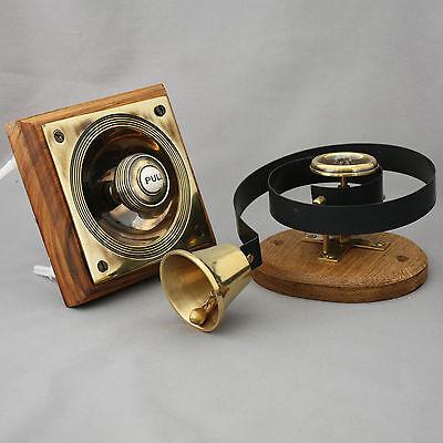 Brass Claverley Front Door Bell Pull & Bell 4 • CAD $324.92