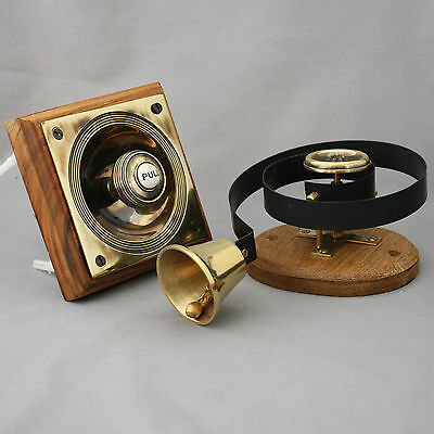 Victorian Style Brass Claverley Front Door Bell Pull & Bell 4
