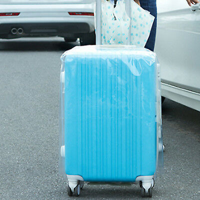 Plastic Travel Luggage Suitcase Cover Protector Scratch Dustproof Bag 20 24 28 3
