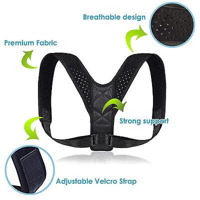 Adjustable Back Posture Corrector Clavicle Spine Shoulder Lumbar Brace Support 2