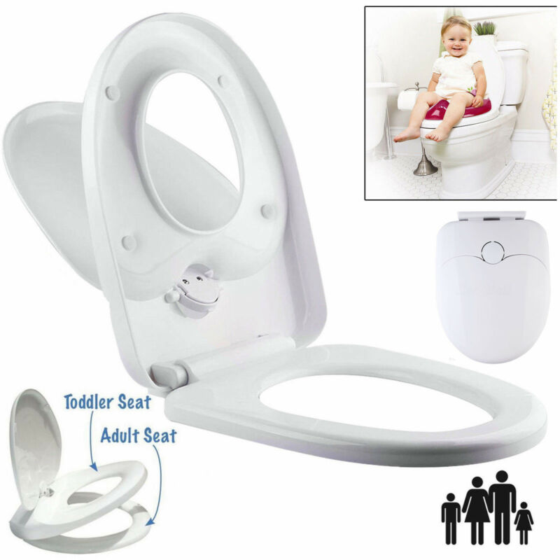 Fine Family Toilet Seat Potty Training White W Soft Close Cover Short Links Chair Design For Home Short Linksinfo
