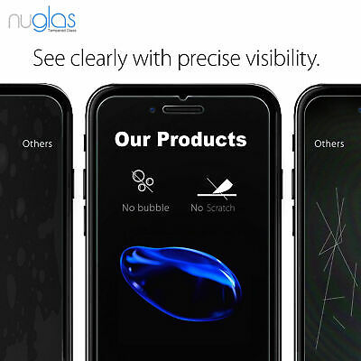 For iPhone 8 Premium NUGLAS Tempered Glass Screen Protector Superior Protection 5