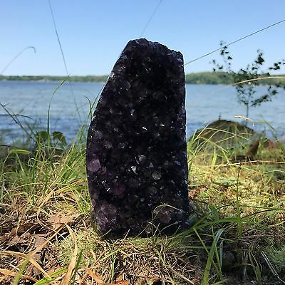 EXTRA LARGE POLISHED Amethyst Druze Crystal Cluster With Cut Base ~ 2 Pounds ea. 9