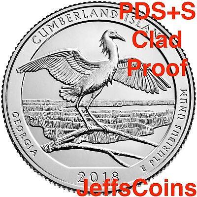 2019 PDSSS Lowell National Historical Park Clad & Silver Proof Quarter P D S S S 4