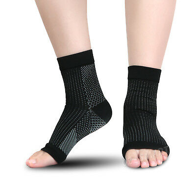 Foot Sleeve Plantar Facilities Compression Socks Sore Achy Swelling Heel Ankle 6