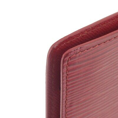 Auth LOUIS VUITTON Epi Agenda PM Day Planner Cover Red Leather R2005E #f41439 5