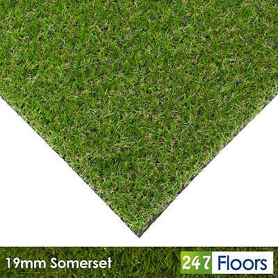 Somerset 19mm Artificial Grass Quality Astro Turf Cheap Realistic Natural 2m 4m 5