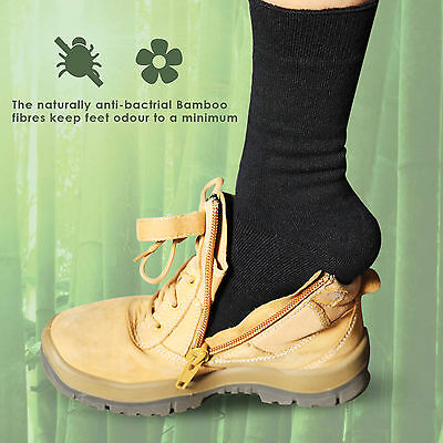 7 Pairs Bamboo Work Socks 88% Bamboo Socks Thick Work Mens Heavy Duty Cushion 4