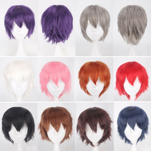 Women Girl Long Hair Wig Straight Curly Wavy Anime Cosplay Fancy Party Full Wigs 10
