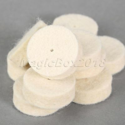 36Pcs Grinder Rotary Attachment Grinding Wheel Disc Felt Wool Buffing Pads Tool 7